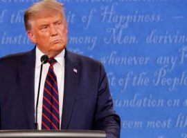 President Donald Trump's poor debate performance was surpassed thre days later by his postive coronavirus test. That prompted bookmakers around the world to suspend betting on the US presidential election. (Image: AP Photo)