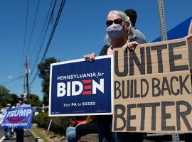 Polls show Joe Biden with a lead over Donald Trump in Pennsylvania, one of several key battleground states in the 2020 presidential election. (Image: Shannon Stapleton/Reuters)