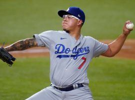 Julio Urias will take the mound for the Los Angeles Dodgers in Game 4 of the World Series on Saturday. (Image: Sue Ogrocki/AP)
