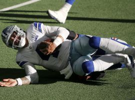 Quarterback Dak Prescott was carted off the field after a gruesome ankle injury that ended his season, and maybe Dallas' chances to win the Super Bowl. (Image: AP)