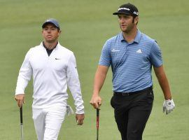 Jon Rahm, right, is the favorite at the Zozo Championship, but Rory McIlroy is the better bet in a match up wager between the two golfers. (Image: USA Today Sports)