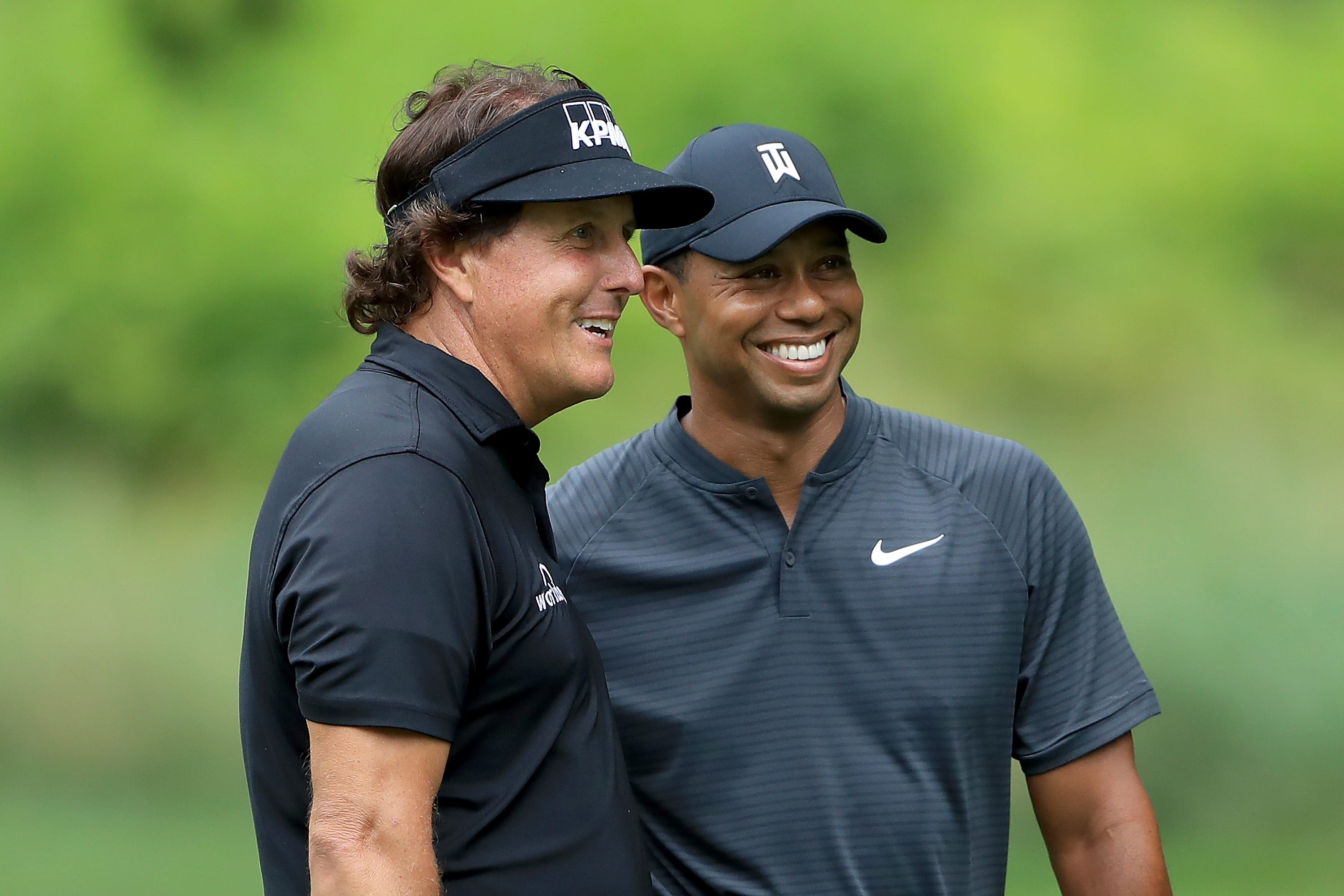 Master Tiger Woods Phil Mickelson