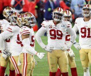 The San Francisco 49ers may be ending their embattled Super Bowl-hangover season in Phoenix as Santa Clara County has eliminated contact sports as part of its ramped-up COVID-19 protocol. (Image: Getty)