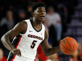 Potential lottery pick Anthony Edwards playing for the Georgia Bulldogs in 2019. (Image: Joshua L. Jones/AP)