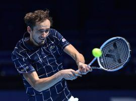 Daniil Medvedev went 3-0 in the group stage of the ATP Finals, and is now favored over Rafael Nadal in their semifinal. (Image: Getty)