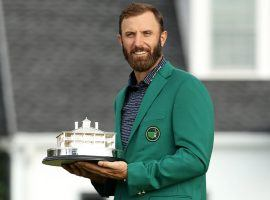 Dustin Johnson won the 2020 Masters by five strokes, and comes into the 2021 Masters as the favorite at most sportsbooks. (Image: Patrick Smith/Getty)