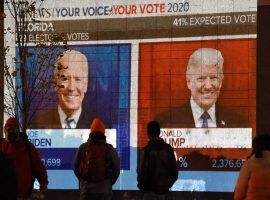 Americans are still waiting to see who will win the 2020 presidential election. (Image: Olivier Douliery/AFP/Getty)