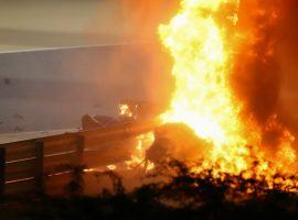 Spectators feared the worst as fire engulfed Grosjean's cockpit. (Image: Getty)