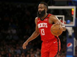 Houston Rockets guard James Harden led the NBA in scoring in three consecutive seasons, but now he's trade fodder. (Image: Jim McIsaac/Getty Images)