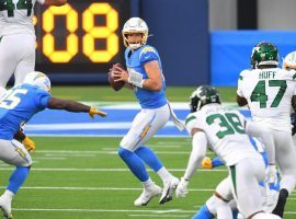 LA Chargers QB Justin Herbert carved up the LOL Jets in Week 11. (Image: Porter Lambert/Getty)