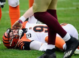 Cincinnati Bengals rookie QB Joe Burrow goes down with a season-ending knee injury. (Image: Getty)