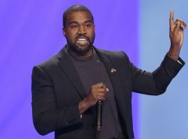 A wager on how many votes Kanye West will earn could prove to be one of the more popular election prop bets in 2020. (Image: Michael Wyke/AP)