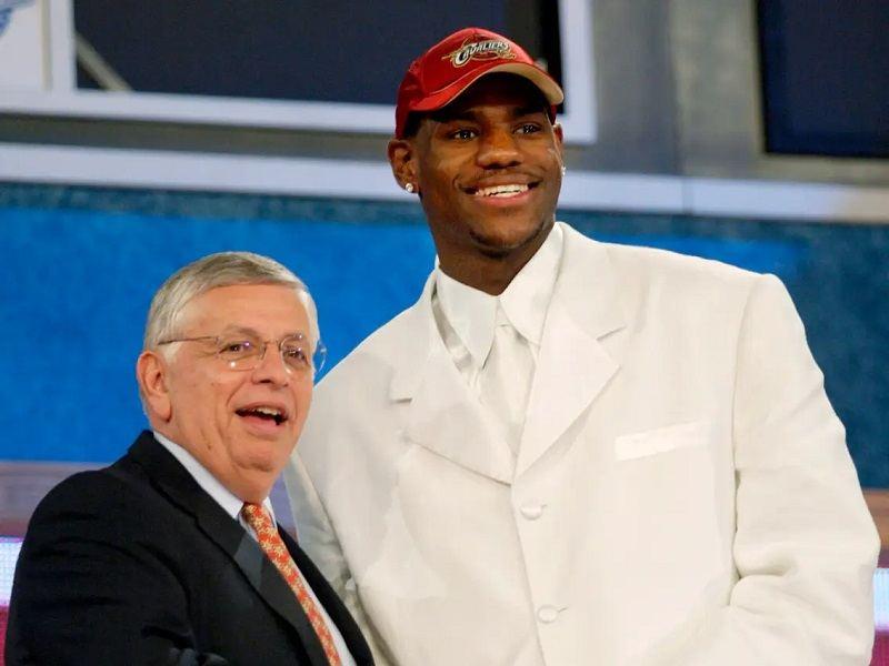LeBron James NBA Draft high school