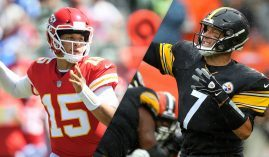 Patrick Mahomes of the Kansas City Chiefs and Ben Roethlisberger of the Pittsburgh Steelers are the top two favorites to win the Super Bowl. (Image: ESPN)