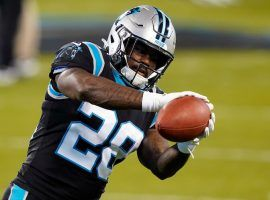 Mike Davis will likely resume the starter's role for the Panthers after lead back Christian McCaffrey suffered another injury. (Image: The Lines)
