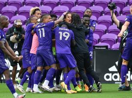 Orlando City will host New England in an MLS Cup Playoffs matchup after its emotional victory over NYCFC. (Image: Douglas P. DeFelice/Getty)