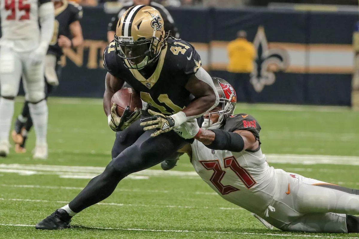 Alvin Kamara New Orleans Saints Tampa Bay Bucs Sunday Night Football SNF