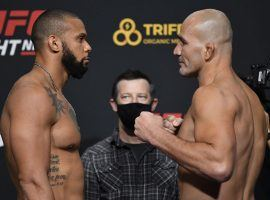 Thiago Santos (left) will take on Glover Teixeira (right) in a critical light heavyweight matchup that could earn the winner a title shot. (Image: Jeff Bottari/Zuffa)