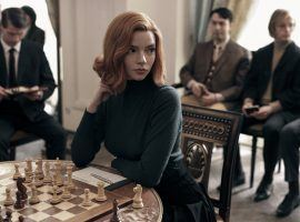 Anya Taylor-Joy stars as Beth Harmon in The Queen's Gambit, the breakout Netflix series about a young woman's journey in the chess world. (Image: Charlie Gray/Netflix)