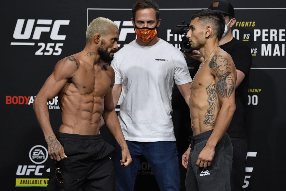 UFC 255 Live Results Scoring