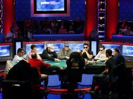 The 2020 World Series of Poker Main Event is moving online in two parts, but organizers still plan to hold live final tables and a heads-up duel for $1 million. (Image: John Locher/AP)