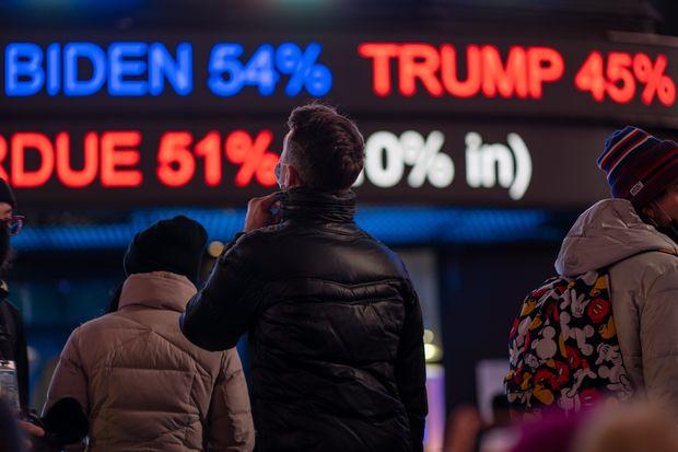 A bettor decides between Biden and Trump