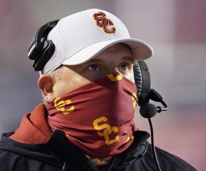 USC head coach Clay Helton was informed Thanksgiving night his Trojans won't be able to go vs. Colorado on Saturday. USC stands atop the Pac-12 South with a record of 3-0. (Image: AP)
