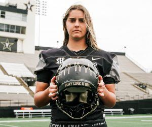 Vanderbilt football enlists the services of women's goal keeper Sarah Fuller this Saturday vs. Missouri. If Fuller plays she'll be the first woman to take the field in a Power 5 football game. (Image: Getty)