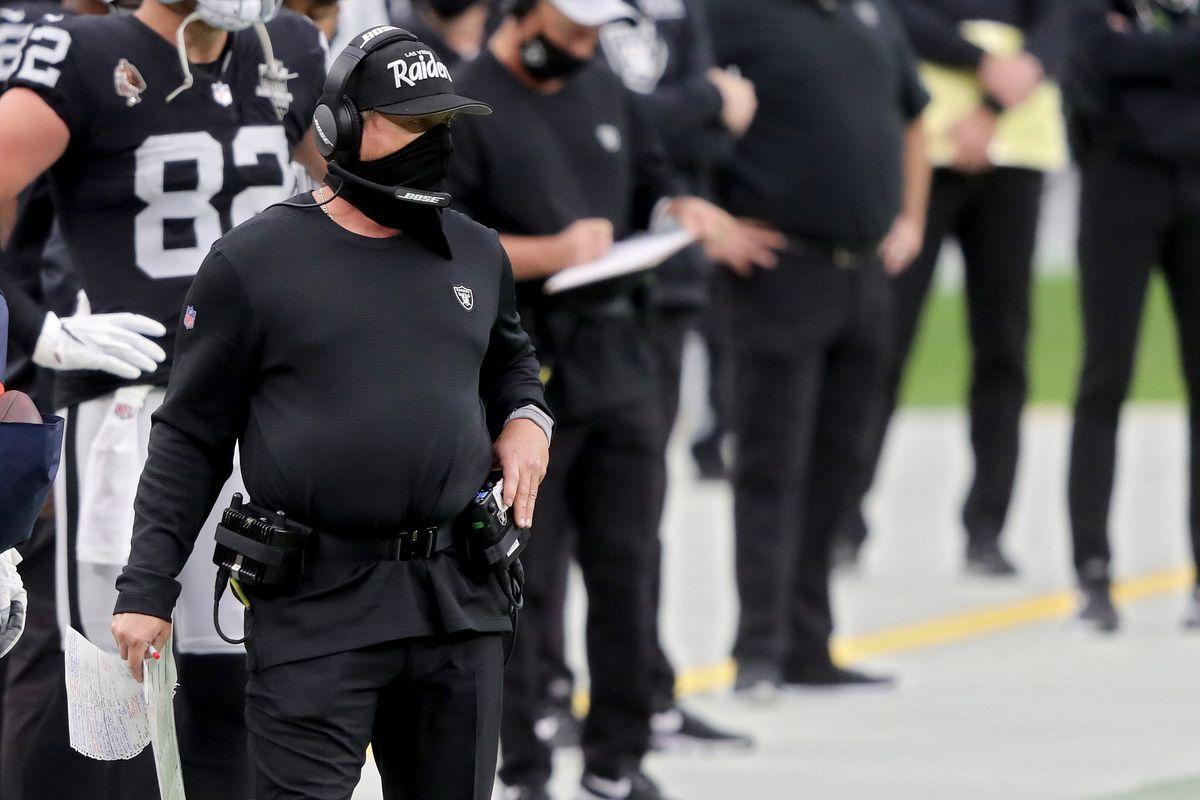 Pelatih kepala Las Vegas Raiders Jon Gruden