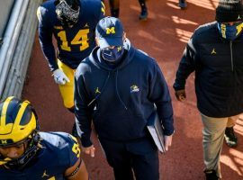 Michigan head coach Jim Harbaugh dropped another game to rival Michigan State in College Football Week 9, and the cries for his firing grew louder. (Image: AP)