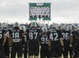 Members of the Marshall football team had one of the more touching highlights in College Football Week 11 when they paid tribute to the players killed in a 1970 plane crash. (Image: Herald-Dispatch)