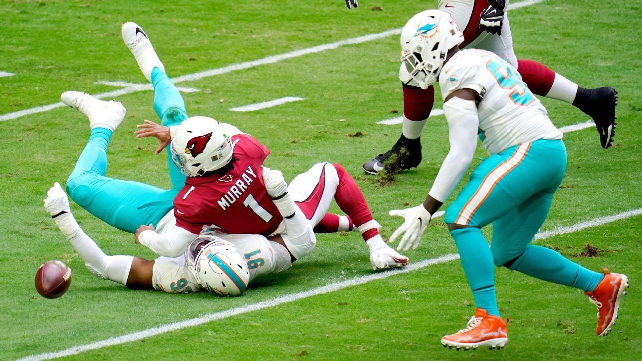 Miami's Emmanuel Ogbah, Shaq Lawson NFL Week 9 highlight