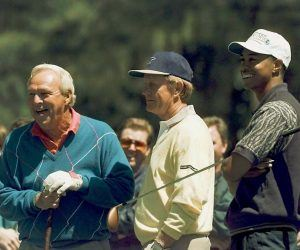 Arnold Palmer, Jack Nicklaus, Tiger Woods Masters winners