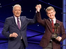 All-time winner Ken Jennings, right, was a favorite of Alex Trebek, and is the favorite to be the next Jeopardy! host. (Image: ABC)