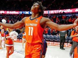 Illinois guard Ayo Dosunmu will try to pick off #2 Baylor in the Jimmy V Classic. (Image: Getty)