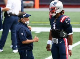 New England Patriots QB Cam Newton and Bill Belichick find themselves in a tough spot on the AFC Wild Card bubble. (Image: Mark J. Rebilas/USA Today Sports)