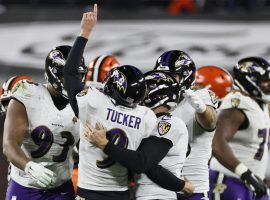 The Ravens kicked a field goal with two seconds remaining, then scored a safety on the game's final play to deal Browns bettors a memorable bad beat. (Image: Ron Schwane/AP)