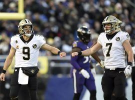 New Orleans Saints went 3-0 with backup Taysom Hill replacing Drew Brees (7), who missed the last three weeks with an injury. (Image: AP)