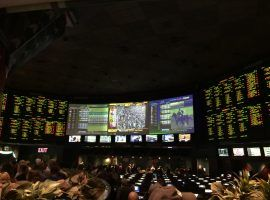 A view of the race book at Foxwoods Resort Casino. Foxwoods and DraftKings announced an agreement to partner on sports betting, provided it becomes legalized in Connecticut. (Image: Foxwoods Resort Casino)
