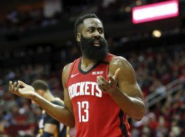 James Harden wants to leave Houston, but will the Rockets trade him to the Philadelphia 76ers? (Image: Tim Warner/Getty)