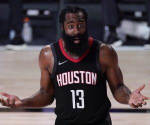 James Harden Houston Rockets trade rumor Golden State Warriors Brooklyn Nets