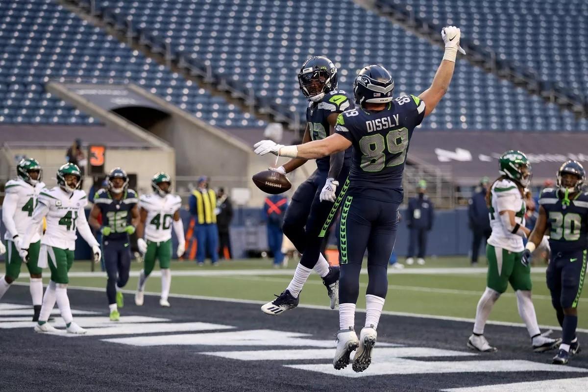 LOL NY Jets Seattle Seahawks meledak Russell Wilson Will Dissley