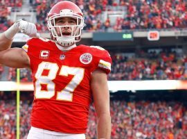 Kansas City TE Travis Kelce earns a Madden 21 rating of 99 after another historic season. (Image: AP)