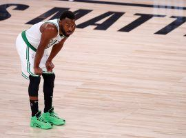Boston Celtics PG Kemba Walker during the 2020 NBA Eastern Conference Finals in Orlando. (Image: Kevin C. Cox/Getty)