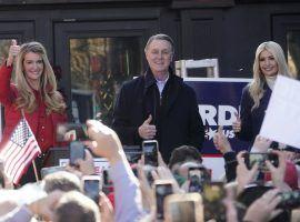Republican Senators Kelly Loeffler (left) and David Perdue (center) rally with Ivanka Trump (right) ahead of the Georgia Senate runoff elections. (Image: John Bazemore/AP)