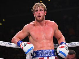 Logan Paul (pictured) will step into the ring against boxing legend Floyd Mayweather Jr. for an exhibition bout in February. (Image: Jayne Kamin-Oncea/Getty)