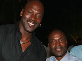 Michael Jordan credits his older brother Larry (right) for making him a better basketball player. A new study suggests an older sibling is common among athletes that achieve at the highest levels. (Image: Dimitrios Kambouris/Getty)