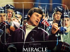 """""""Miracle"""" a 2004 film starring Kurt Russell as the coach of the gold-medal winning US men's ice hockey team in 1980. (Image: Disney)"""