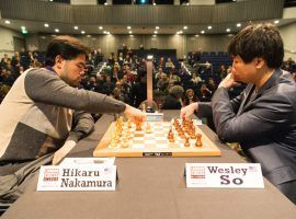 Hikaru Nakamura (left) will take on fellow American Wesley So (right) in the semifinals of the 2020 Speed Chess Championships. (Image: Ray Tang/Anadolu/Getty)
