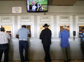 Due to COVID-19 restrictions, you won't be able to walk to the Santa Anita Park window to bet and cash winning tickets. But the Southern California track has you covered with a smorgasbord of wagers on its upcoming Winter/Spring Meet. (Image: Mario Tama/Getty)